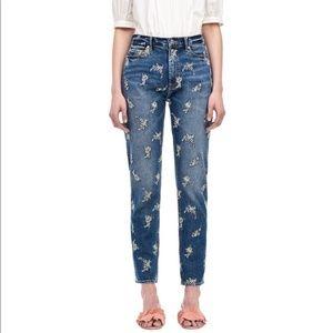 Rebecca Taylor La vie High rise Embroidered Jeans